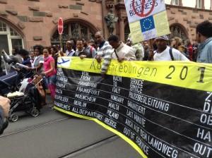 """Demo """" Refugees for change"""" Frankfurt"""